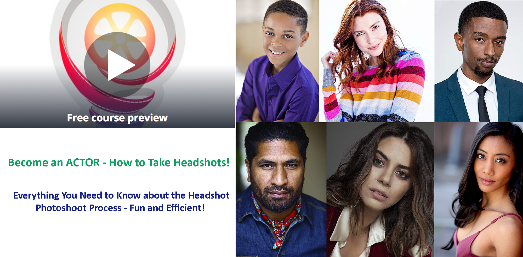 "Self Tape - ""Become an ACTOR - How to Take Headshots"" with Donnabella Mortel"