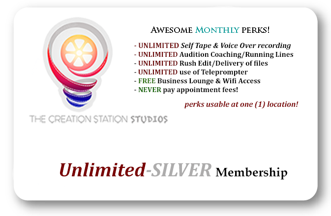 Unlimited self tape audition membership - The Creation Station Studios - Silver