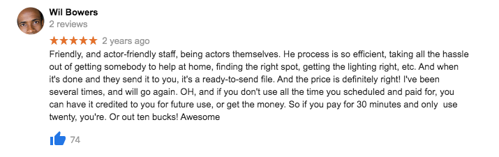 Self Tape Audition - The Creation Station Studios - 5 Star reviews r2t2