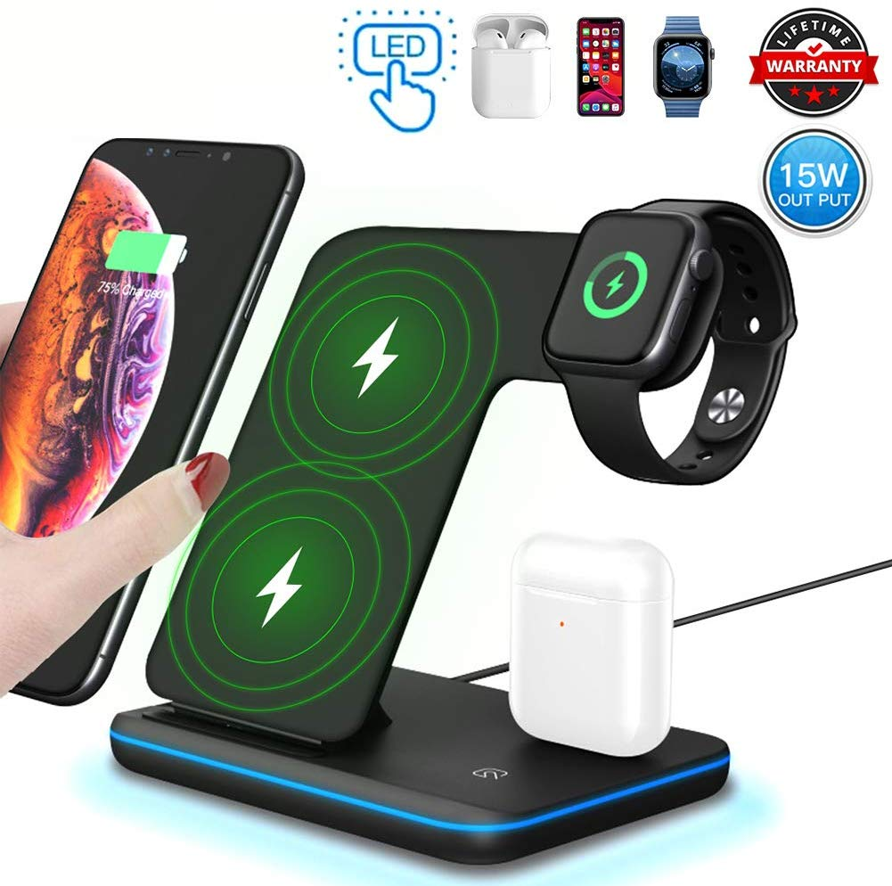3-in-1-Wireless-Charger15W10W-Qi-Fast-Wireless-Charger-Stand-for-iPhone-1111-Pro11-Pro-MaxXsXs-MaxXRX88PGalaxy-S10S9Wireless-Charging-Station-with-LED-Light-Fits-for-iWatchAirpods-Black_